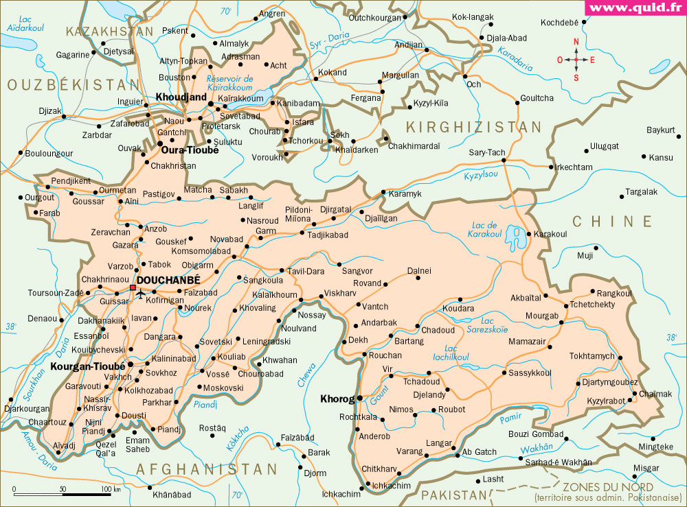 Map of Tajikistan Tajikistan Physical Map Map of Tajikistan
