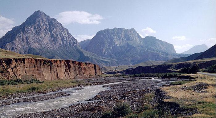 Pamir Mountains in Tajikistan