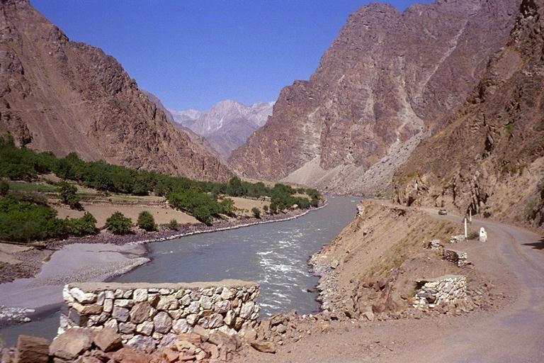 Pyanj River. Tajikistan photos